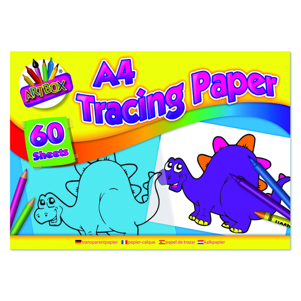 Art Box Tracing Paper Pad A4 60 Sheets (12 Pack) TAL05069