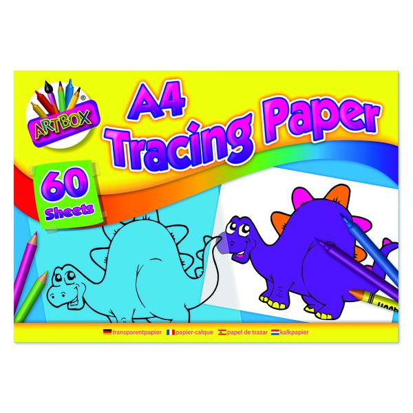 Art Box Tracing Paper Pad A4 60 Sheets (12 Pack) TAL05069