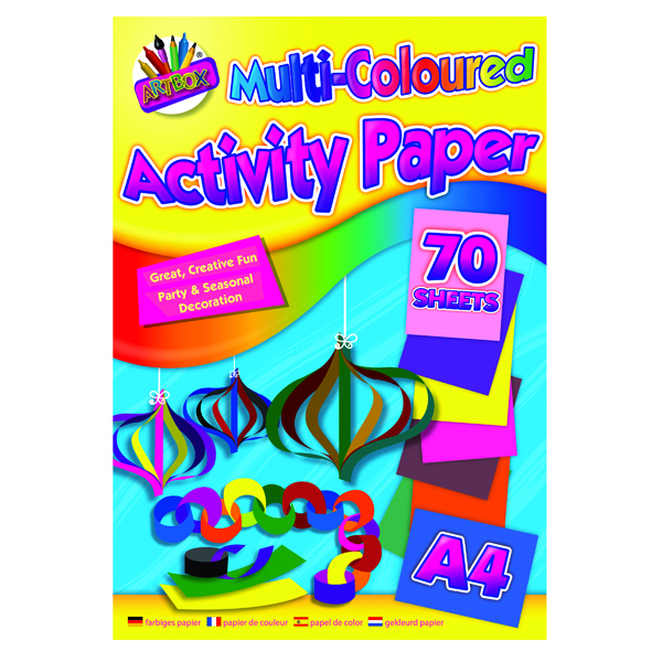 Art Box Activity Paper Pad A4 Assorted (12 Pack) TAL06872