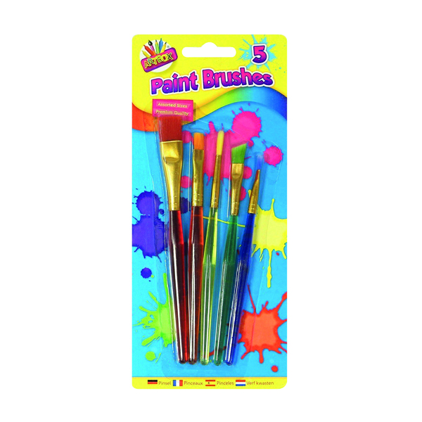 Artbox 5 Assorted Paint Brushes (12 Pack) 5453
