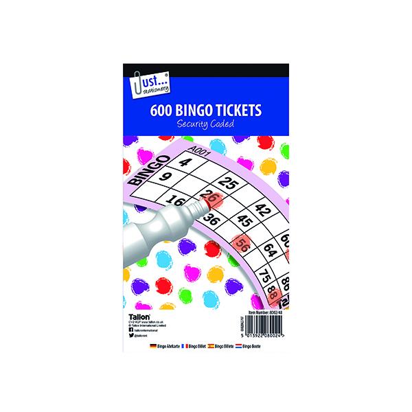 Just Stationery Jumbo Bingo Tickets 21 x 12cm (12 Pack) 8002