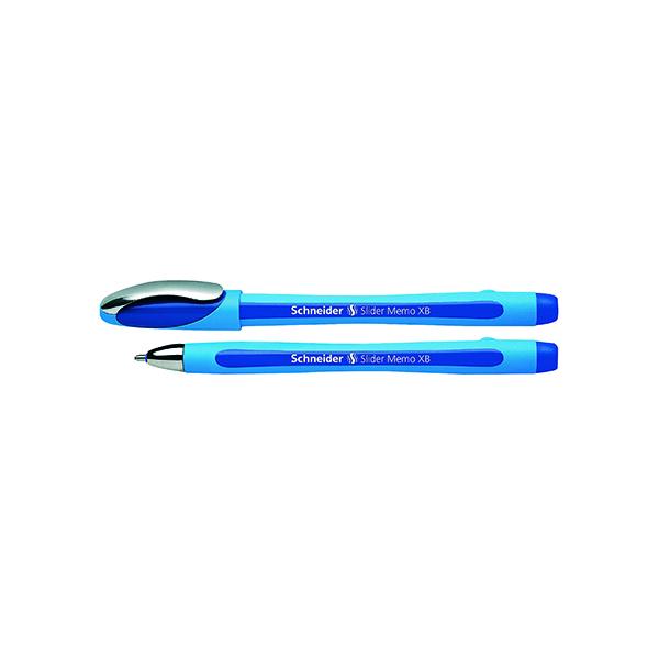 Schneider Slider Memo XB Ballpoint Pen Large Blue (10 Pack) 150203