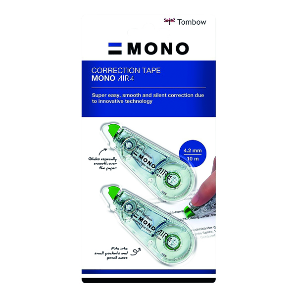 Tombow MONO air4 Correction Tape 4.2mm x 10m (20 Pack) CT-CA4-20