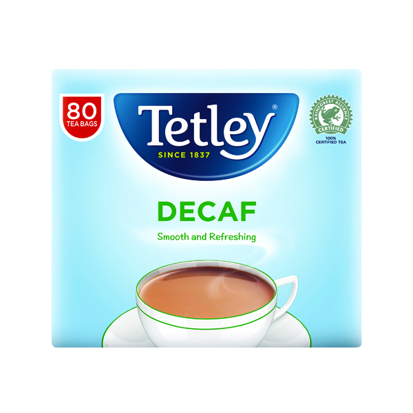 Tetley Decaffeinated Tea Bag (80 Pack) 5012X