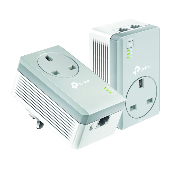 TP-Link AV600 2-Port Passthrough Powerline Starter Kit TL-PA4022P KIT