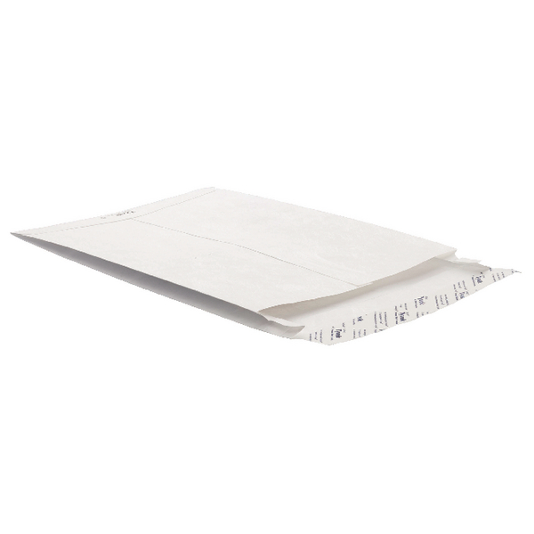 Tyvek 343 x 250 x 20mm Peel and Seal White Gusset Envelope (20 Pack) 756924 P20