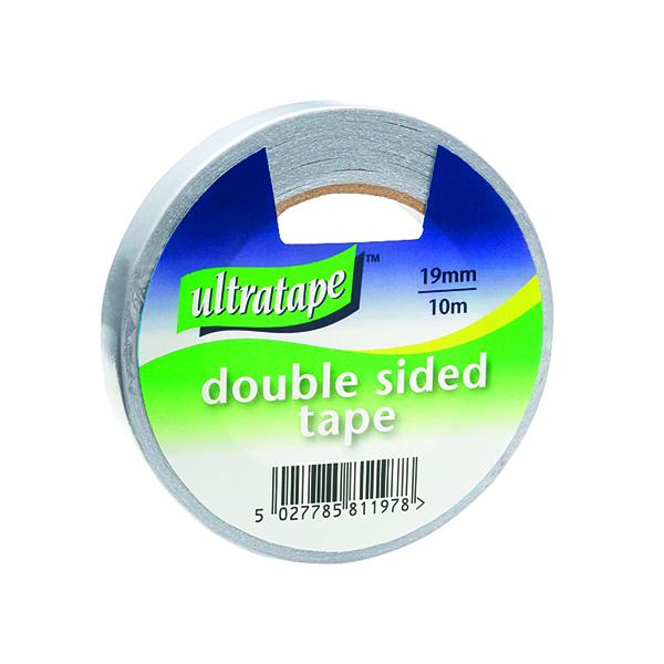 Double Sided Tape 19mmx10m 1 Roll Ultra Clear (12 Pack) DS01031910UL