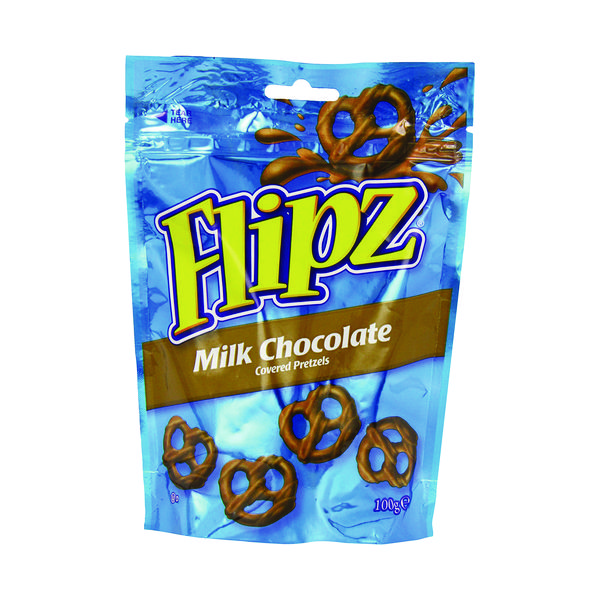 Flipz Milk Chocolate Pretzels 100g 36870
