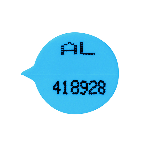 Go Secure Numbered Round Seal Blue (500 Pack) S3B