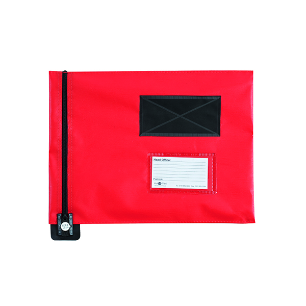 Go Secure Flat Mail Pouch Red 286x336mm FP7R