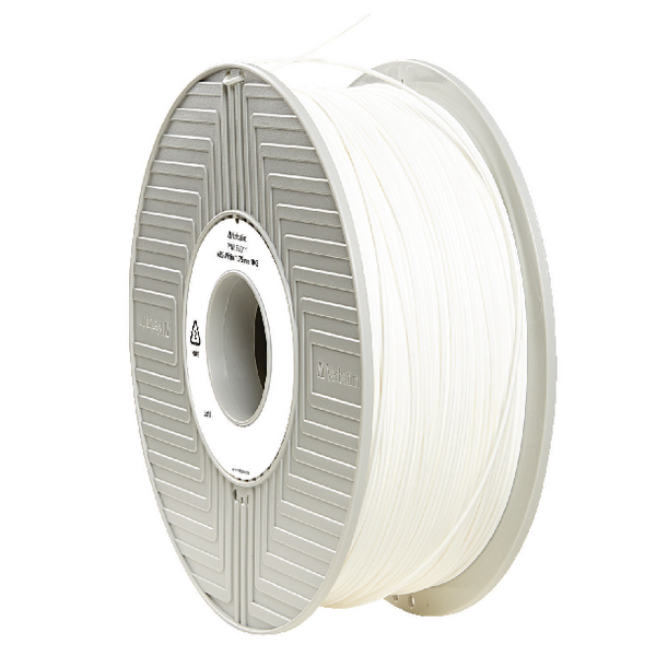 Verbatim ABS 3D Printing White Filament 1.75mm 1kg Reel 55011