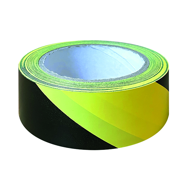 Black And Yellow Hazard Tape 33m (6 Pack) HZT3348
