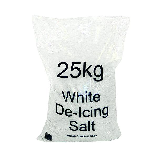 White Winter De-Icing Salt 25kg Bag (10 Pack) 383499
