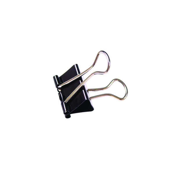 32mm Black Foldback Clip (100 Pack) 23081