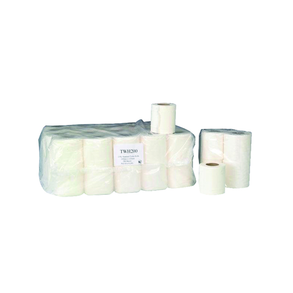 2-Ply White 200 Sheet Toilet Roll (36 Pack) TWH200T