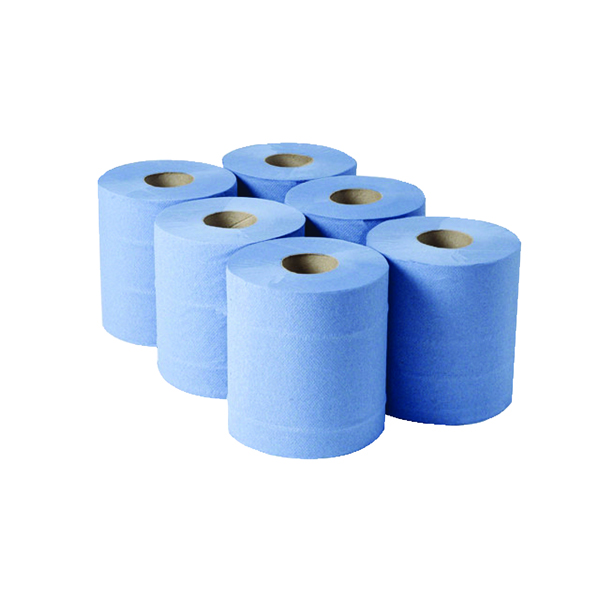1-Ply Blue Centrefeed Rolls 290mx180mm (6 Pack) CBL290S