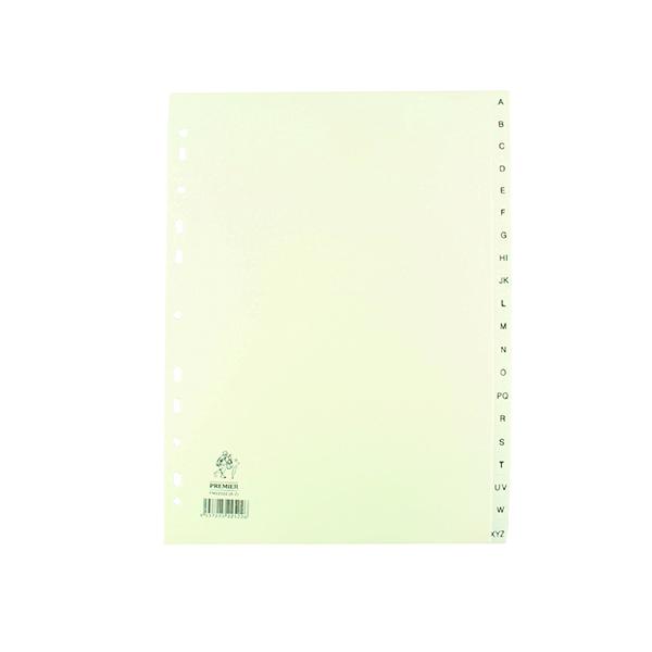 A4 White A-Z Polypropylene Index WX01351