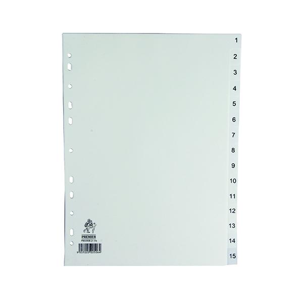 A4 White 1-15 Polypropylene Index WX01355