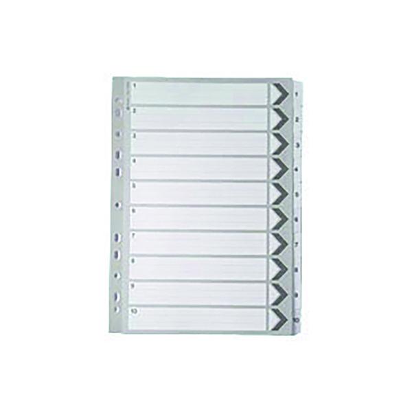 A4 White 1-10 Mylar Index WX01528