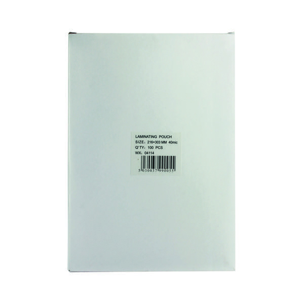 A4 Lightweight Laminating Pouch 80 Micron (100 Pack) WX04114