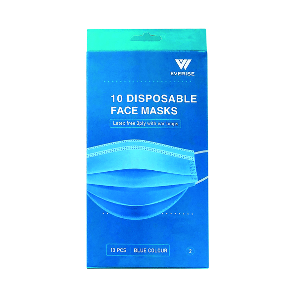 Disposable 3Ply Face Mask (200 Pack) WX07354
