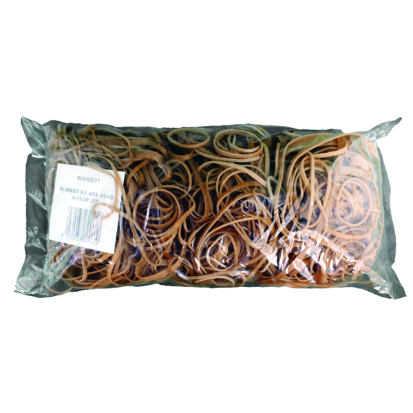 Assorted Size Rubber Bands (454g Pack) 9340013