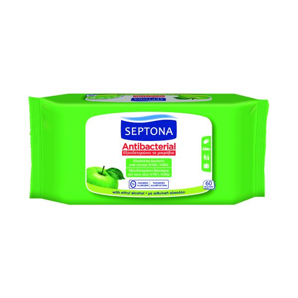 Anti Viricidal Wipes Green Apple (60 Pack) MED500