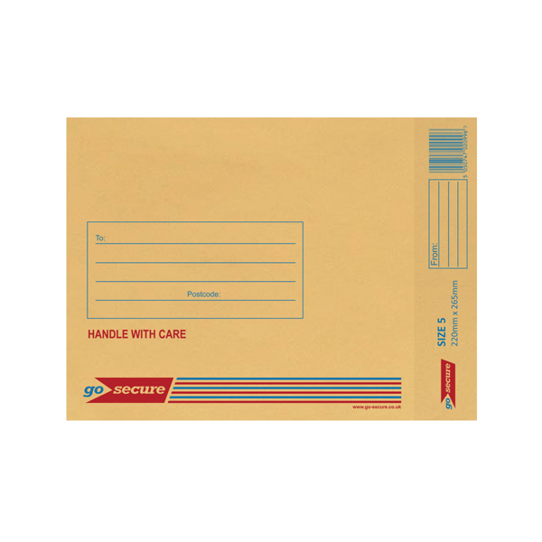 Bubble Lined Envelope Size 5 220x265mm Gold (100 Pack) XML10050