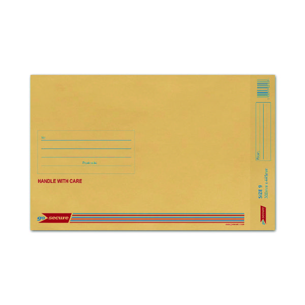Bubble Lined Envelope Size 9 300x445mm Gold (50 Pack) XML10058
