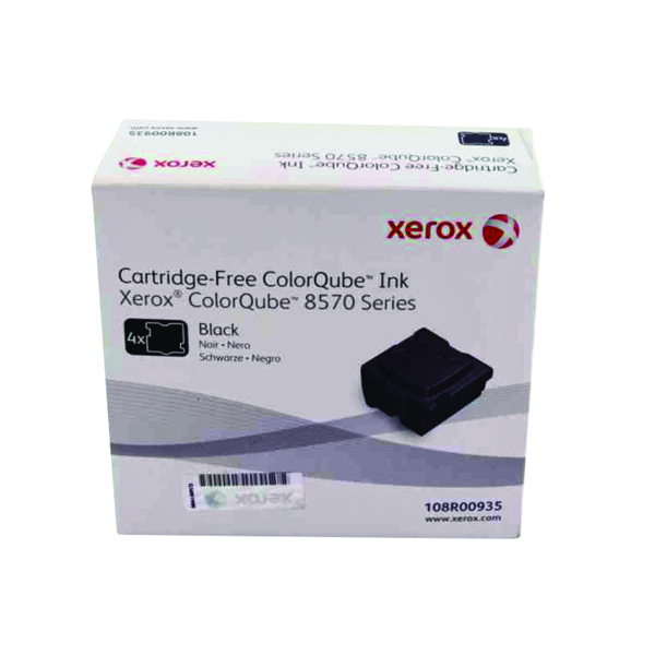 Xerox ColorQube 8570 Black Ink Stick 8.6K (4 Pack) 108R00935