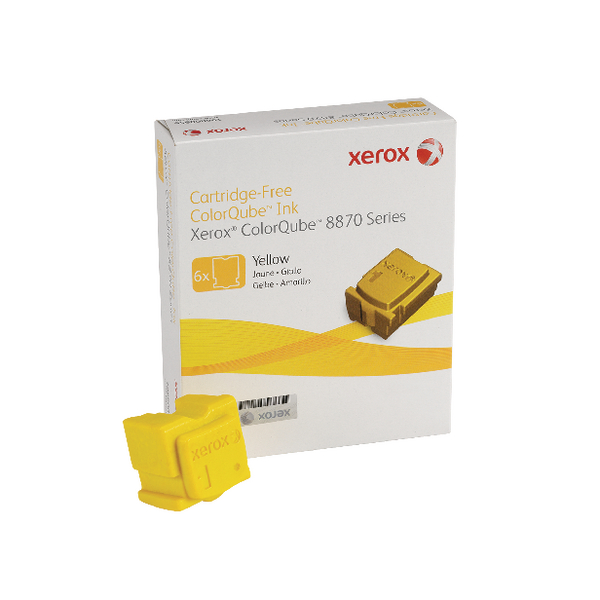 Xerox ColorQube 8870 Yellow Ink Stick 17K (6 Pack) 108R00956