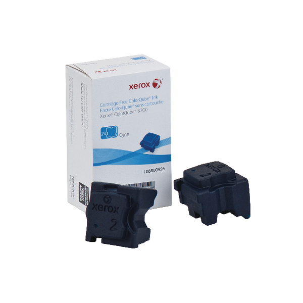 Xerox ColorQube 8700 Cyan Ink Stick (2 Pack) 108R00995