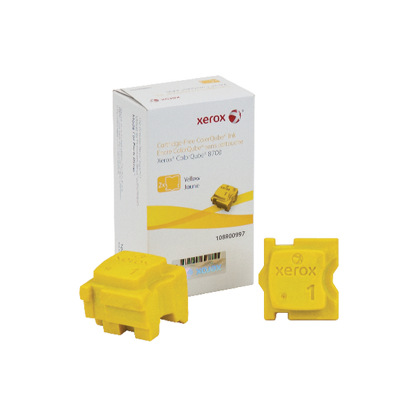 Xerox ColorQube 8700 Yellow Ink Stick (2 Pack) 108R00997
