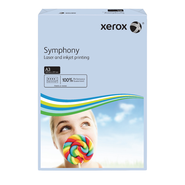 Xerox Copier A3 Symphony Tinted 80gsm Pastel Blue (500 Pack) 003R91953