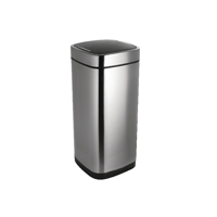 Addis 40 Litre Deluxe Stainless Steel Sqaure Press Top Bin 513914