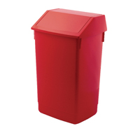 Addis 60 Litre Fliptop Bin Red AG813421