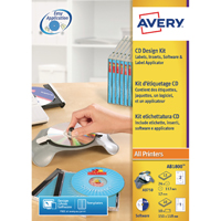 Avery AfterBurner CD/DVD Label System Kit AB1800