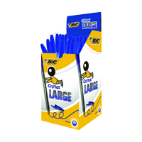 Bic Cristal Large Ballpoint Pen 1.6mm Blue (Pack of 50) 880656
