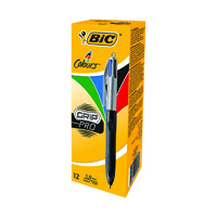 Bic 4 Colours Grip Pro Ballpoint Pen (Pack of 12) 892293