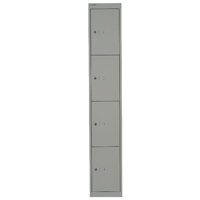 Bisley Goose Grey 4 Door Locker W305xD457xH1802mm BY02537