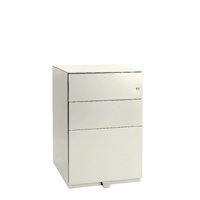 Bisley Pedestal Mobile 2 Stationery 1 Filing Drawer Chalk White BY02996