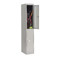 Bisley Goose Grey 2 Door Locker W305xD305xH1802mm BY09212
