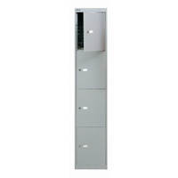 Bisley Goose Grey 4 Door Locker W305xD305xH1802mm BY09213