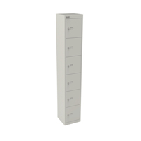 Bisley Goose Grey 6 Door Locker W305xD305xH1802mm BY09214