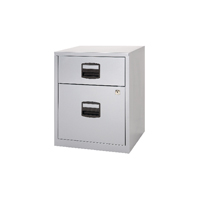 Bisley A4 Mobile Home Filer 2 Drawer Grey BY11112
