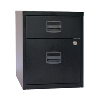 Bisley A4 Mobile Home Filer 2 Drawer Black BY31012