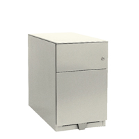 Bisley Note Pedestal Mobile 1 Stationery 1 Filing Drawer Chalk White BY42024