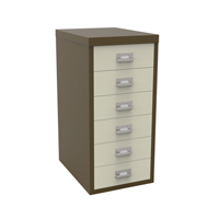 Bisley 6 Drawer Coffee Cream Non-Locking Multi-Drawer Cabinet BY36938