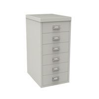 Bisley 6 Drawer Grey Non-Locking Multi-Drawer Cabinet BY48266