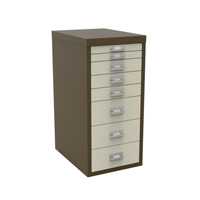 Bisley Non-Locking Multi-Drawer Cabinet 8 Drawer Coffee Cream BY48268